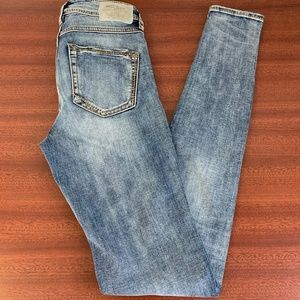 EUC Silver Vintage High Rise Skinny Jeans